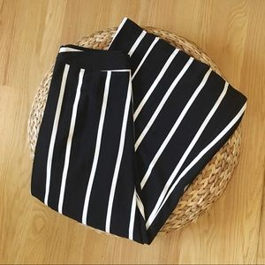 Who What Wear Wide Leg Black and White Pants
